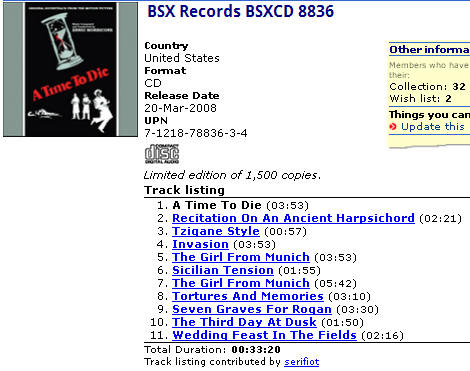 BSX Records BSXCD 8836